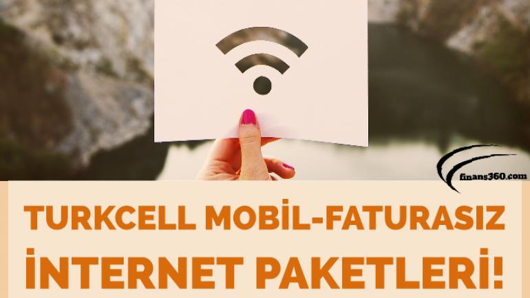Turkcell Mobil-Faturasız internet Paketleri 2019!